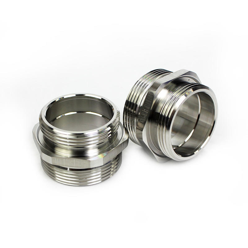 Custom Stainless steel Nuts and Pipe Fitting parts with Thread